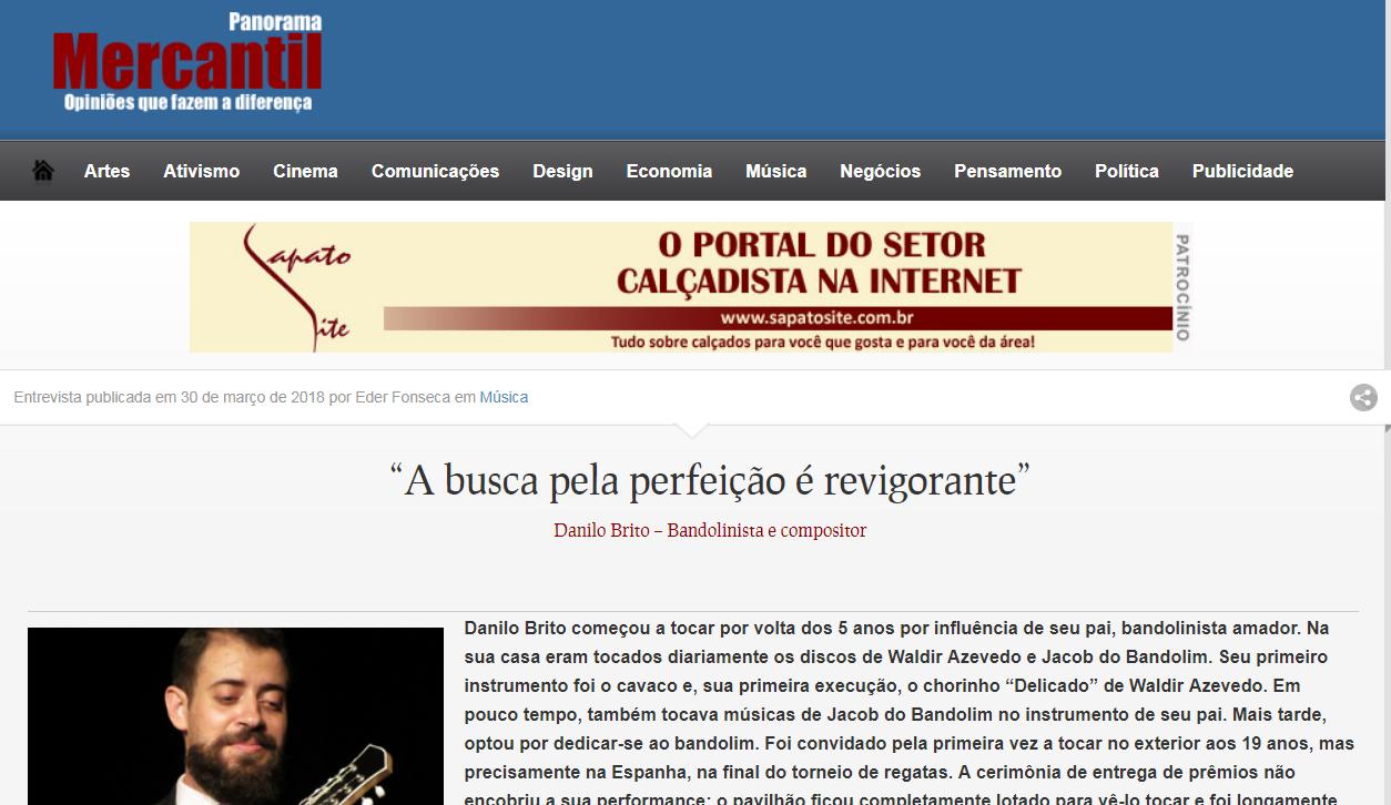 New interview by Danilo Brito