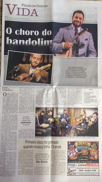 The Choro of the Mandolin - Folha da Região newspaper